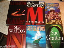 Lot of 7 Sue Grafton Henry Holt & Co G and J thru O series some 1st editions