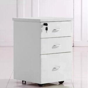 Rollcontainer  für Winkelschreibtisch Schreibtisch Büro Weiss 60x40cm DE