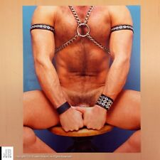 8x10 Male Nude Art Figure Photograph - Beefcake / Hairy / Leather / Gay