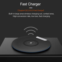 10W Qi Wireless Charger Charging Pad Mat For iPhone 11 8 XS Samsung S10 Note 10