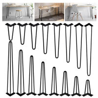"4X Metal Hairpin Rod Table Desk Iron Legs Heavy Duty Furniture Industrial 6""-34"""