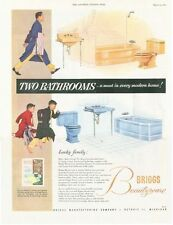 1953 Brigg's PRINT AD Vintage Bath Tub Stool Basin Sink