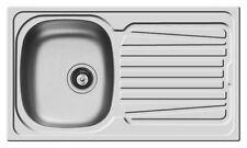 Lavello lavandino lavabo 86x50 inox PILETTA 3,5'' 1 vasca SX + gocciolatoio PY