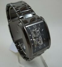 RELIC BY FOSSIL ALLEN GUNMETAL STAINLESS STEEL AUTOMATIC WATCH SKELETON ZR77206