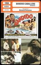 BANDIDO CABALLERO - Mitchum,Thiess,Fleischer (Fiche Cinéma) 1956