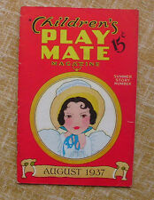 Children´s PlayMate Magazine, August, Summer Story Number, Vol. 9, No. 3, 1937