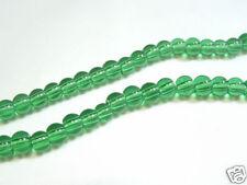 BNPGR08 : 40+ pcs x 8mm Plain Green Round Beads