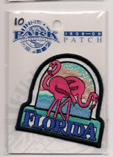 State of Florida Souvenir Patch Flamingoes