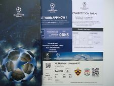 VIP Box TICKET UCL 2017/18 NK Maribor vs Liverpool FC # 1