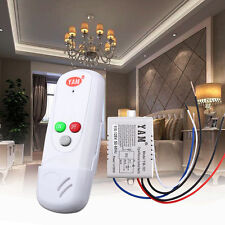 AC 110V Wireless Receiver 1-Way ON/OFF Light Lamp Wall Remote Control Switch NEW