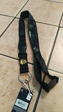 NWT Chicago Blackhawks NHL Blackout Black Lanyard Keychain