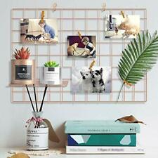 Pulatree Grid Photo Wall, Wire Wall Grid Panel 25.6 x 17.7inch - Rose Gold