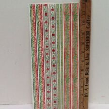 "Christmas 12"" Borders Green/Red Holly SCRAPBOOKING Stickers by Autumn Leaves"