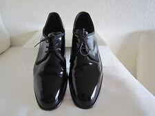 Pronto Uomo Firenze Dress Shoes Formal Tux Black Patent Leather Sz US 14