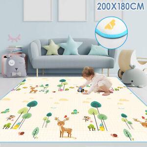 200x180cm Baby Kids Floor Mat Crawling Pad Foam Playmat Carpet Rug Picnic Soft