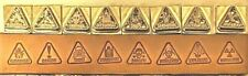 Leather Stamps Set 8 Danger Toxic Explosive Radiation Biohazard Flammable
