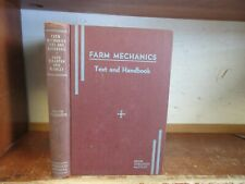 Old FARM MECHANICS Book TOOLS FORGING METAL MACHINERY WOODWORKING ROPE CONCRETE