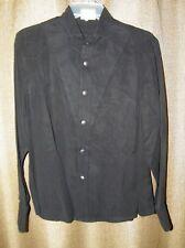 Womens Western Wear Stubb's Long Sleeve Black Shirt Size XL Metal Buttons