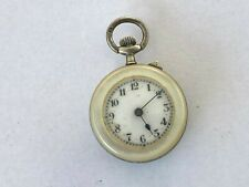 Pearl Ladies Fob Watch Antique English Sterling Mother Of