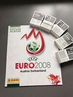 Panini EM 2008 Österreich/Schweiz Komplettsatz 535 Sticker + Album,Euro,Fußball