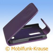 Flip Case Etui Handytasche Tasche Hülle f. Nokia Asha 501 (Violett)