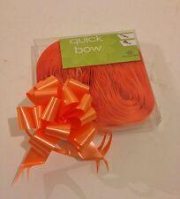 10 orange rapide bow pull rubans 30mm d'anniversaires de mariage Baptême Noël