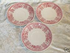 Trois anciennes sous-tasse pour tasse chocolat Burgenland Villeroy Boch rouge