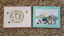 New listing 2 Handmade Stampin' Up! All Occasion 40th Anniversary We Must Celebrate Animals