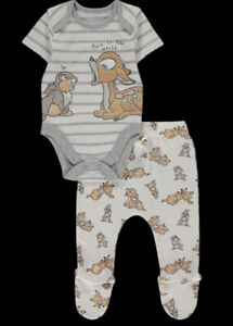 Disney Bambi Bodysuit And Footed Joggers Set
