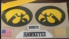 IOWA Hawkeyes (2018) XL-Football Helmet DECALS/2 Sides/Front/Back With Stripe Re