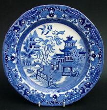 1930's Burleigh Blue & White Willow Pattern Breakfast / Sm Dinner Plate 24cm VGC