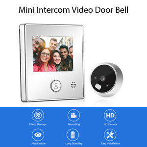 Smart Visual Door Bell Night Vision Video Recording Home Security Entry System!