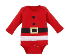 Christmas Santa Suit Diaper Shirt by Baby Ganz Size: 0-6 Months