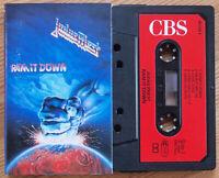 JUDAS PRIEST - RAM IT DOWN (CBS 4611084) 1988 EUROPE CASSETTE TAPE EX COND!!