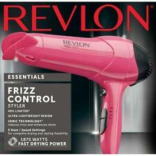 REVLON Essentials Frizz Control Hair Dryer/Styler FREE Shipping