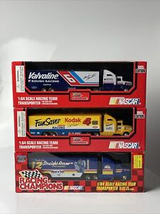 Lot of 3 NASCAR Dicast 1:64 Racing Champions Team Transporter/Haulers 1995/96