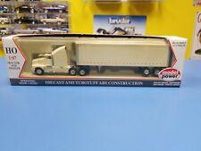 "MODEL POWER  UNLETTERED WHITE TRACTOR W/ STD BOX TRAILER  ""NEW"""