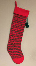 Vintage 1985 Kurt Adler Saks Fifth Avenue Logo Knit Christmas Stocking 25�