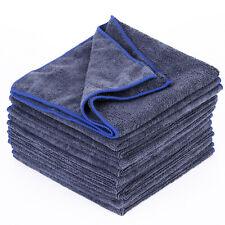 10x Serviette microfibre lavage chiffon nettoyage Maison Voiture Gris Fonce