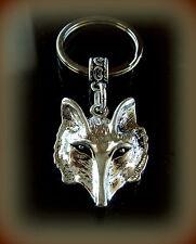 Detailed Wolf Head Keychain Jewelry - Unique Wolf Head Design Keychain