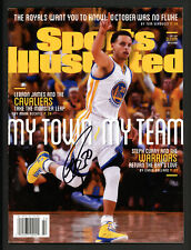 Stephen Curry Autographed Sports Illustrated Warriors No Label Beckett S76341
