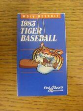 1983 scheda di impianti: Baseball-Detroit Tigers (primi 4 Sports-Pieghevole Stile). un