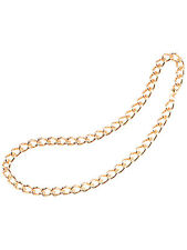 "Gangster Rapper's 24"" Heavy Duty Gold Chain One Size Mens Fancy Dress Accessory"