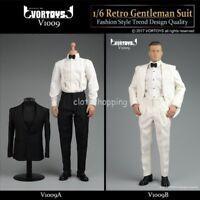 """VORTOYS V1009 1/6 Scale Retro Gentleman Suit Clothes Set For 12"""" Action Figure"""