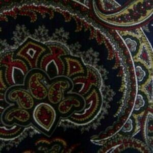 Blue Red Paisley FERRE Silk Tie