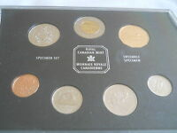 1999 Canada Specimen 7 Coin Set, Royal Canadian Mint w/ Case