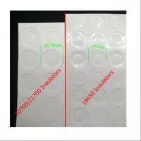 30/20pcs 18650 20700 21700 Battery Insulators Adhesive Paper insulation washer