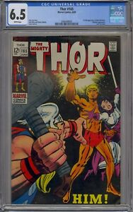 THOR #165 CGC 6.5 1ST HIM WARLOCK WHITE PAGES