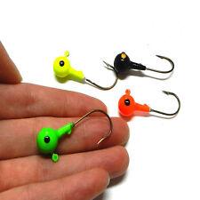 5pcs Metal Fish Lead Head Round Jig Hooks Fishing Lures Bait Tackle Hook Set