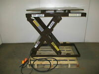 "Autoquip 36S60 6000 LB Electric Scissor Lift Table 9 1/2""-45 1/2"" Rotating Top"